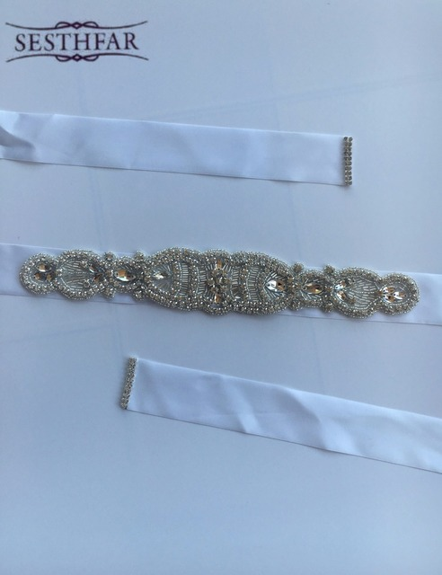 Best Price Elegent Flower Style Crystal Bridal Sash Rhinestone Wedding Party Bride Bridesmaid Belt Dress Sash