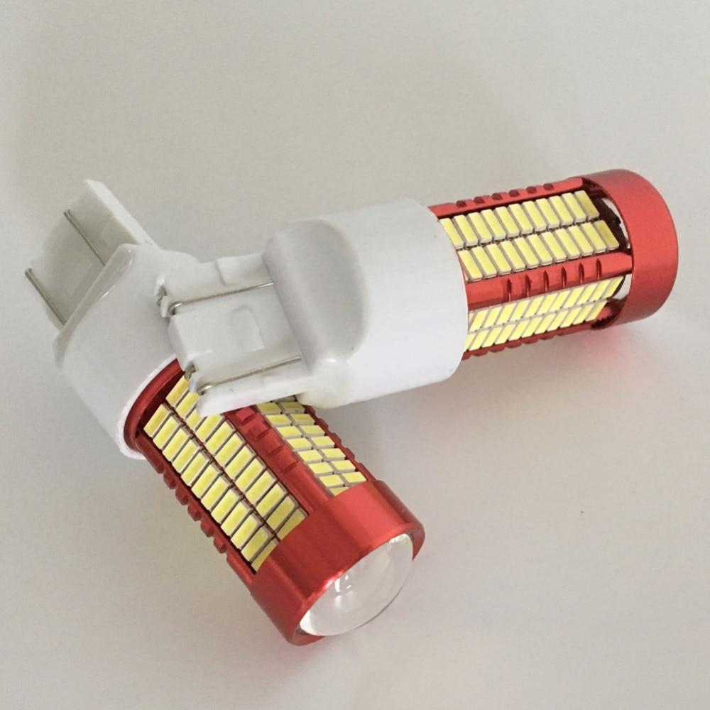 2PCS Led Light 50W 6500K 7443 W16W T20 106SMD 4014 - Автомобилни светлини - Снимка 3