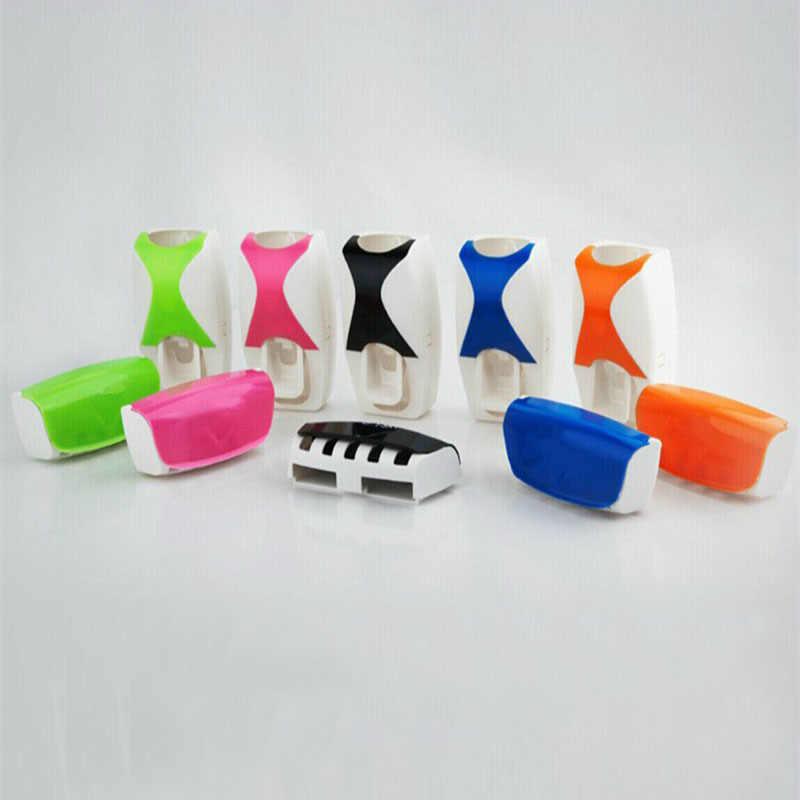 1 zestaw 5 kolorów automatyczny dozownik pasty do zębów zestaw 5 uchwyt na szczoteczki do zębów do montażu ściennego akcesoria do łazienki przybory toaletowe