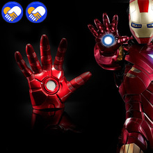2019 NEW 1:1 Cosplay The Avengers 3 Iron Man Mark 3 LED light Glove & Helmet luminous Action Figure Toy Model Costume Party Crop [manual version] cattoys 1 1 full scale iron man wearable abs helmet mark 42 mark 43 mk42 mk43 mask replica with led light