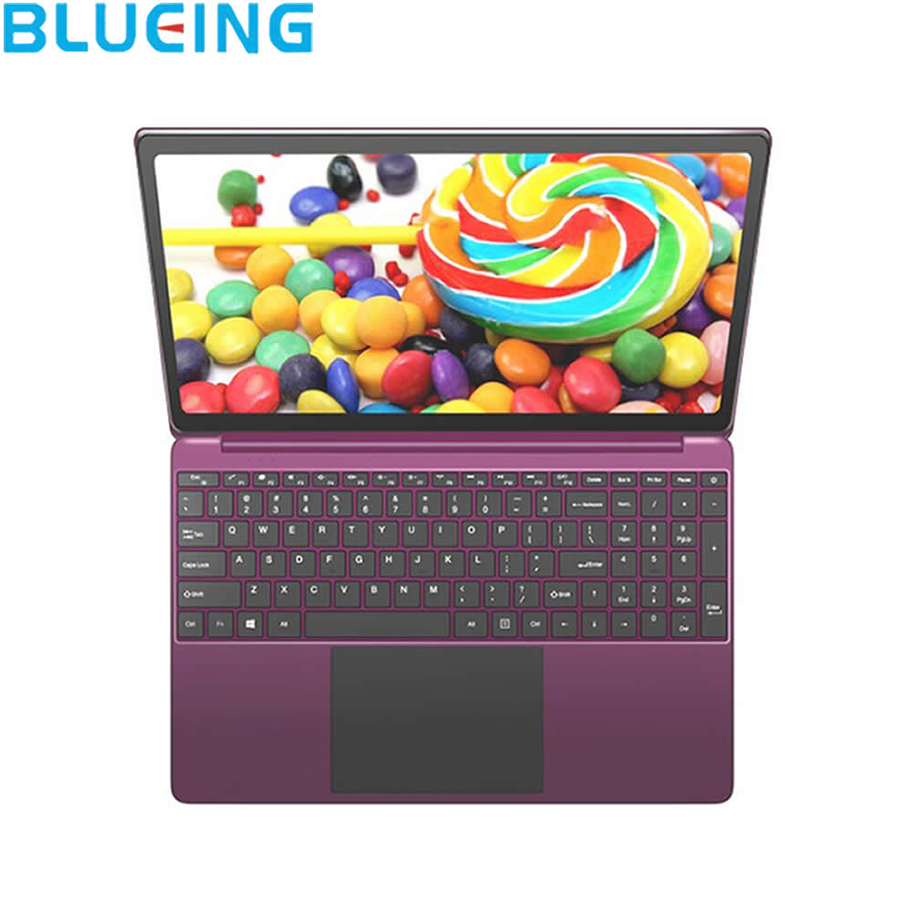 15.6 Inch Purple Metal Shell Laptop 6G 64G SSD HD 1920*1080 Dispaly Windows 10 Camera WIFI Bluetooth Netbook PC Free Shipping