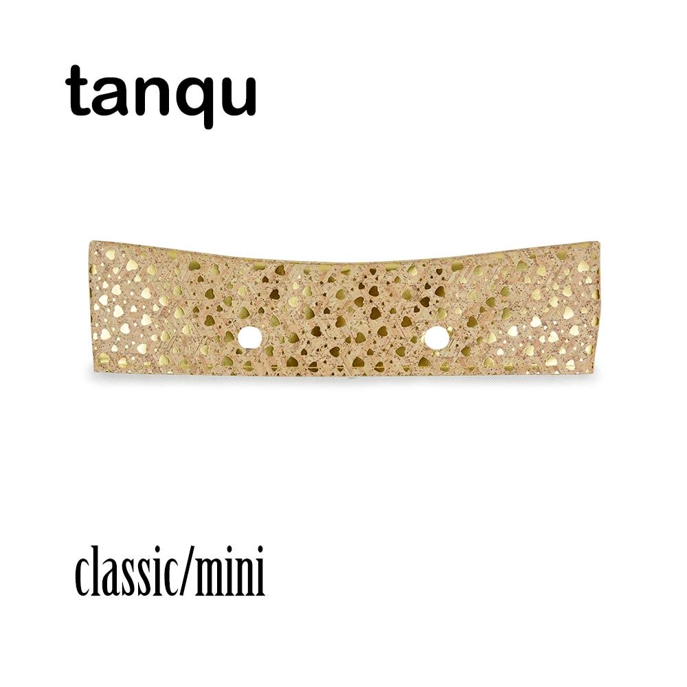 Tanqu Trim PU Faux Leahter Decoration For Obag Handbag Classic Mini Wood Grain Pattern Trim For O Bag Body For Summer Autumn