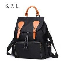 S.P.L новое прибытие повседневная женщины сумки большой объем кожи оксфорд велосипедов рюкзак девушки сумка для покупателя крышка строку закрытия