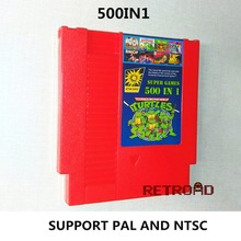 Red 500 In 1 Games Collection 8 Bit 72 Pins Video Game Card For Family Computer