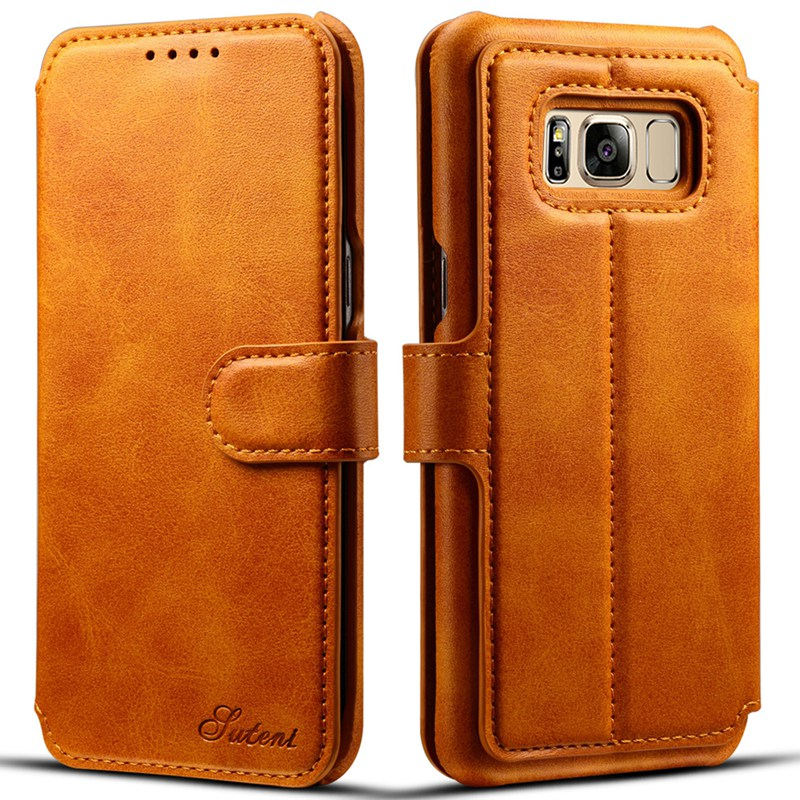Цена за Подставка кожаный чехол Флип Бумажник кожаный чехол для Samsung Galaxy S8 S8 плюс кожаный бумажник с карты карман