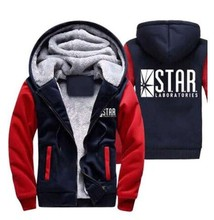 Men's Hooded Casual Brand Hoodies Clothing Wool Liner Mens Winter Thickened Warm Coat Male The Flash Sweatshirts Outwear