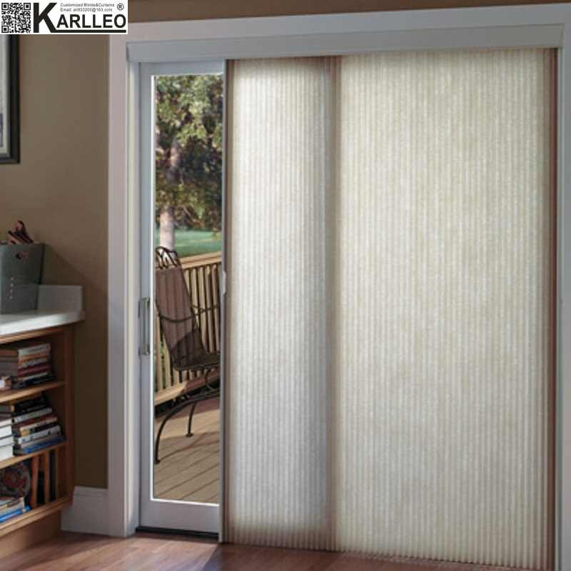 High Quality Blackout Cordless Vertical Honeycomb Cellular Blinds Shades Curtain Customize Size