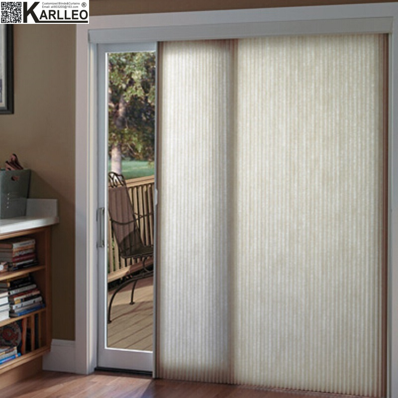 High Quality Blackout Cordless Vertical Honeycomb Cellular Blinds Shades Curtain Customize Size hearth