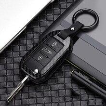 Car Accessories for Peugeot 308 3008 2008 508 4008 408 5008 key bag cover Aluminum alloy decoration protection Key Case