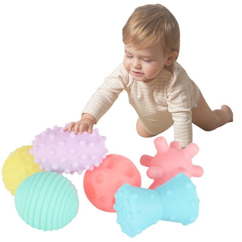 Juego de Pelota de juguete suave con textura para niños recién nacidos pelota de mano táctil de masaje juguetes 10 piezas decoración bola globo forma transparente colgante florero FLORES PLANTAS 2019