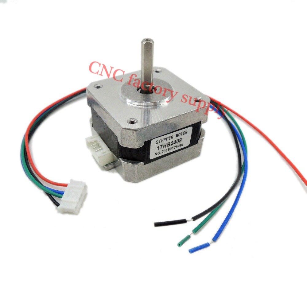 Envío libre 1 unid 17HS2408 4-plomo Nema 17 Stepper Motor 42 motor 42 BYGH 0.6A CECNC Laser y CNC 3D impresora motor
