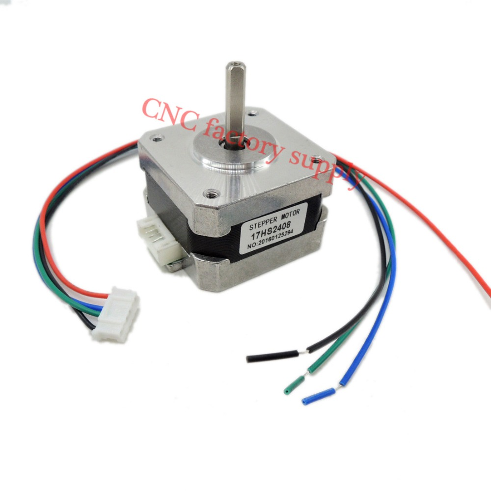 Free shipping 1pc 17HS2408 4-lead Nema 17 Stepper Motor 42 motor 42BYGH 0.6A CECNC Laser and CNC 3D printer parts motor цена