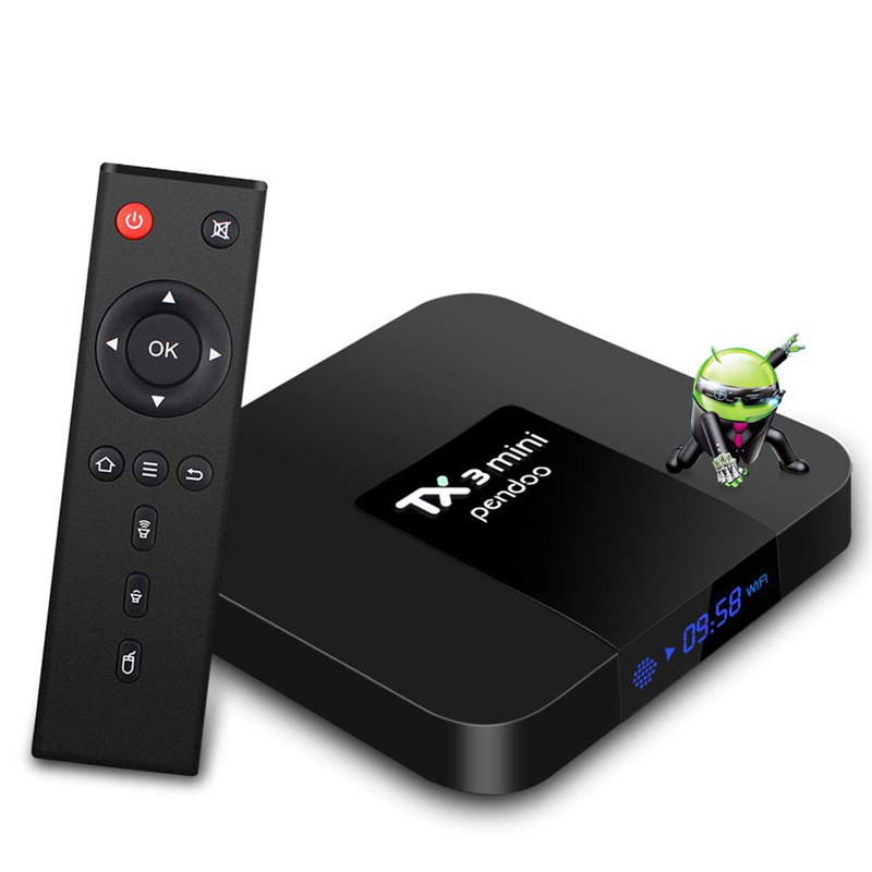Android TV Box TX3 Mini Android Box 2 GB/16 GB Amlogic Quad core 64 Bits WIFI/4 K Ultra HD/H.265 10 Bits décodeur TV intelligent