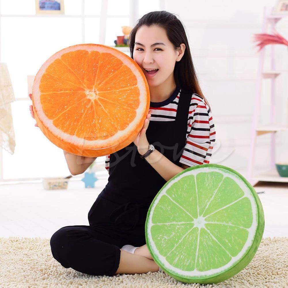 New 3d Creative Fruit Cushions Watermelon Plush Toys Kiwi Sofa Cushion Pillow Shade Accessories Garden Supplies