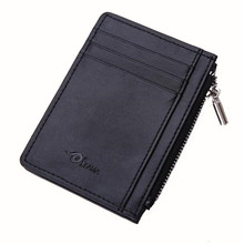 Jasmine Men Leather Card Cash Receipt Holder Organizer Zipper Wallet Purse Dec9