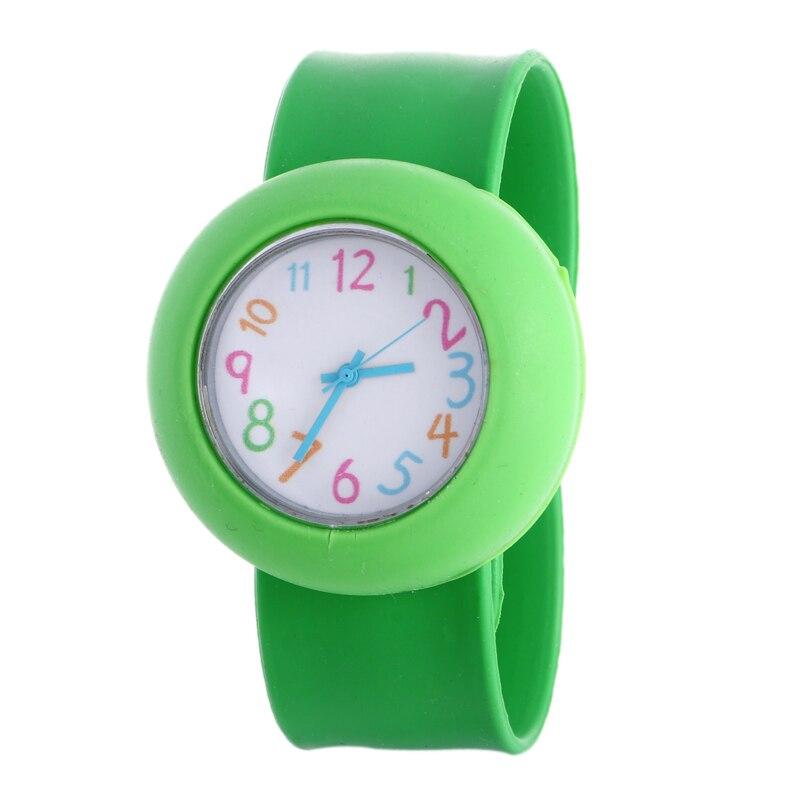 Gnova Platinum Silicone Slap On Watch Children Kids students boy wristwatch Girl jelly silicon reloj Christmas slap on watch slap on watch cartoon akula