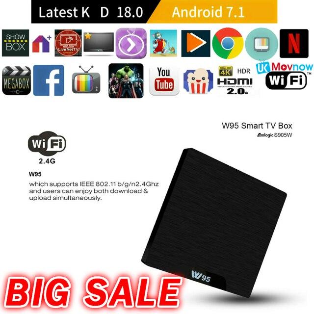 TTVBOX W95 Android TV BOX Android 7.1 Amlogic S905W Quad Core Ultima App 1 gb/2 gb 8 gb /16 gb WiFi 4 k HDMI Smart TV Box Media player