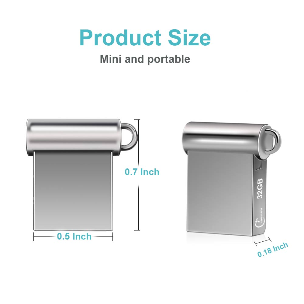 Ingelon Mini USB Thumb Drive 32gb Metal USB flash drive 32 GB - შემნახველი წყაროები - ფოტო 2