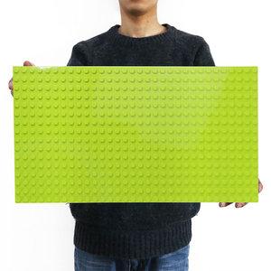 Image 1 - Legoing duploed gran tamaño placa base parte de abajo amplia bloques de construcción ladrillos 16*32 puntos 51*25,5 cm compatible con animales duploed juguetes para niños