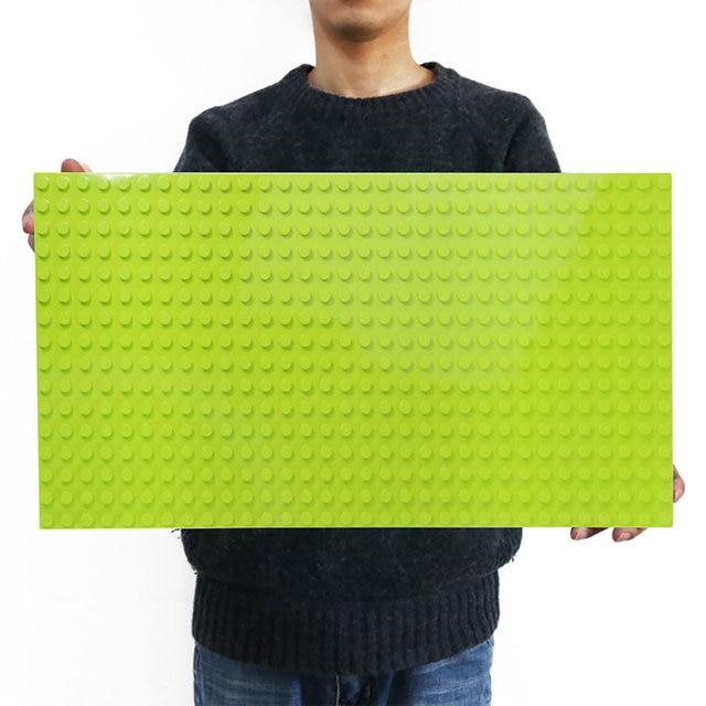 Legoing duploed gran tamaño placa base parte de abajo amplia bloques de construcción ladrillos 16*32 puntos 51*25,5 cm compatible con animales duploed juguetes para niños