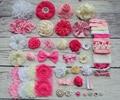 Baby Shower Headband Station Kit,DIY Headband Making Kit,First Birthday Party Headband Kit,Hair Bow Kit ,hot pink,pink,ivory,S46