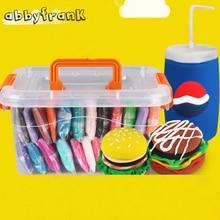 Abbyfrank 24pcs Play Dough Slime Fimo Polymer Plasticine DIY Plasticine Clay DIY Light Handgum Toys Slime