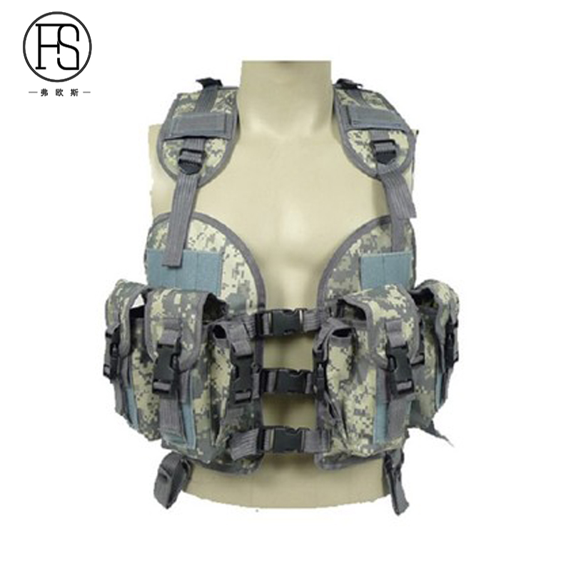 Good Quality Nylon Army Military Training Vest Hunting Shooting War Game Tactical Gear Camouflage Vests