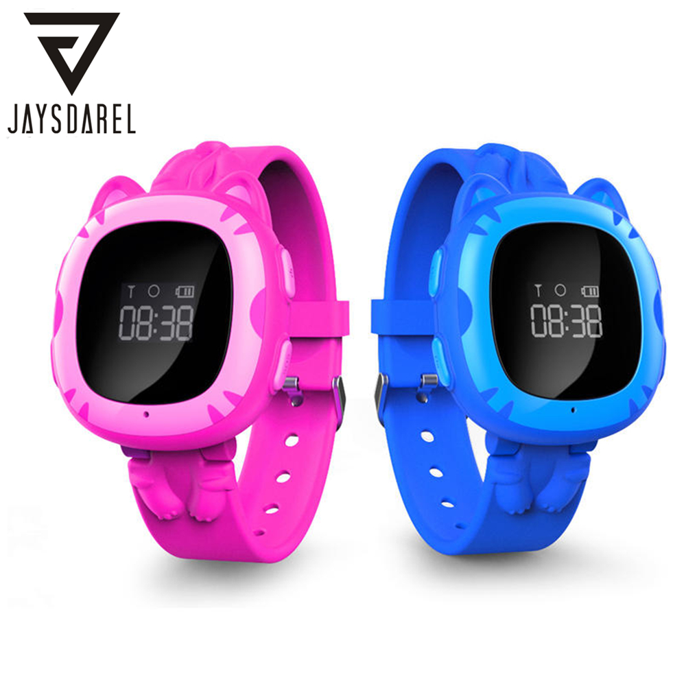 JAYSDAREL SMA Cat Kids GPS LBS Tracker SOS Call Smart Watch GPRS Child Baby Location Device Remote Monitor PK Q50 Q90