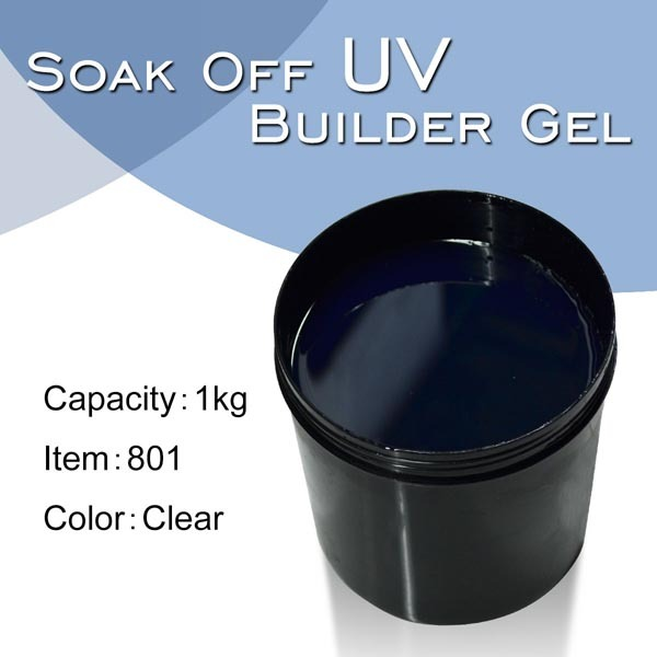 #801  CANNI Factory 1kg UV Builder Gel Hot Sale in bulk 25 Colors Thick UV Gel Builder