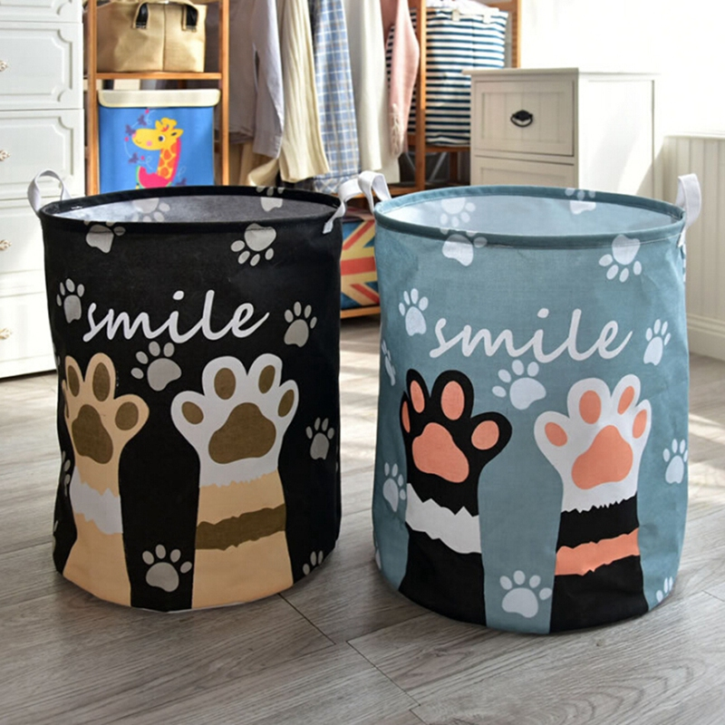 Cartoon Storage Bucket Toy Storage Basket Large Waterproof Clothes Laundry Baskets well-made And Durable(China)