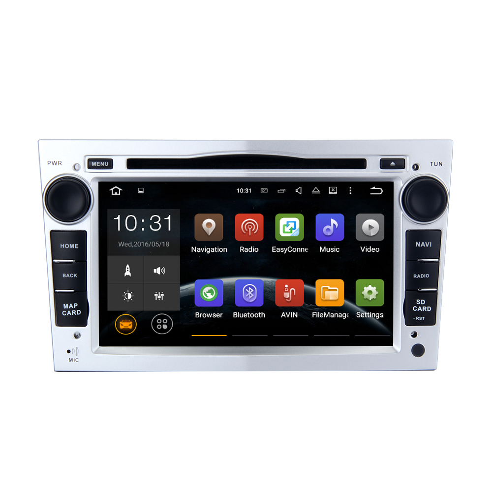 Silvery Color Android 5.1.1 For Opel Vauxhall Vectra Astra