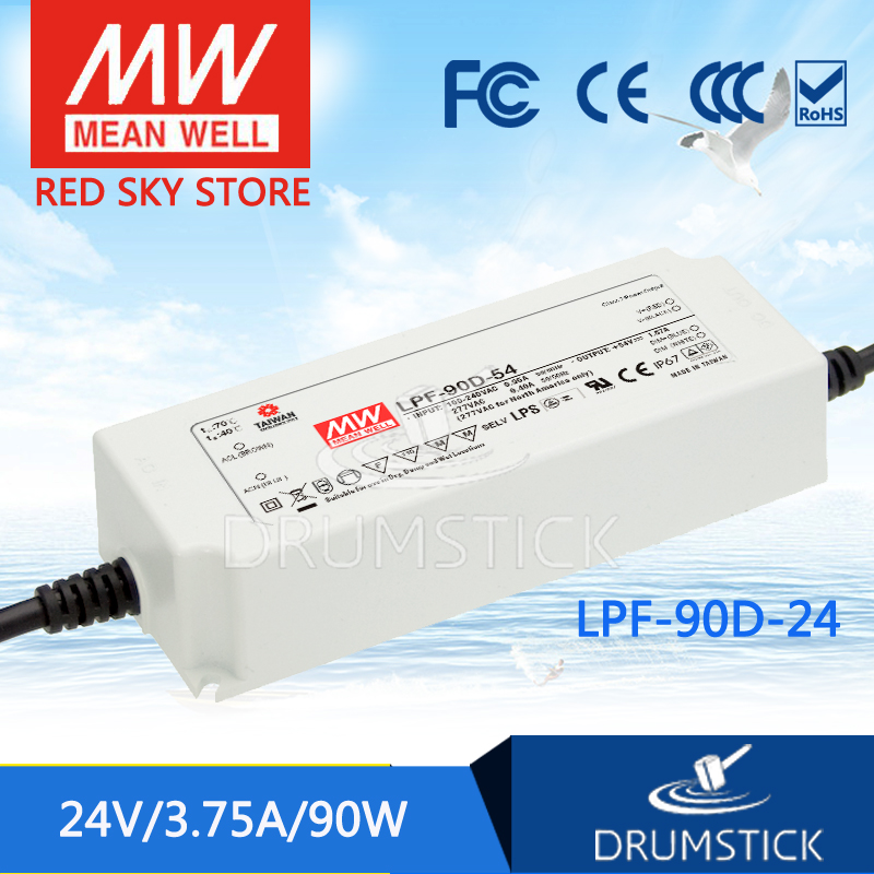 Advantages MEAN WELL LPF-90D-24 24V 3.75A meanwell LPF-90D 24V 90W Single Output LED Switching Power Supply shivaki shrf 90d