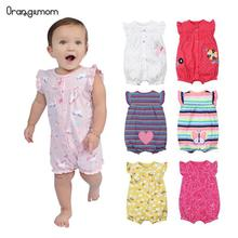 Summer 2017 top sales baby girl clothes 0-24M short jumpsuits for clothing , 100% cotton romper infant bebes roupas menina