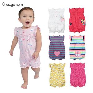 Brand 2019 Summer Baby Rompers Short Sleeve Baby Girls Clothing Kids Jumpsuits Newborn Baby girl Clothes Roupas vestidos