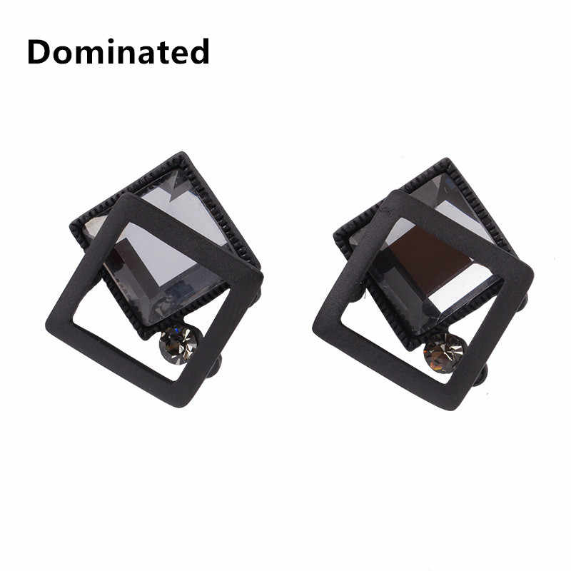 Dominated Women Simple geometric crystal earrings fashion personality black earrings