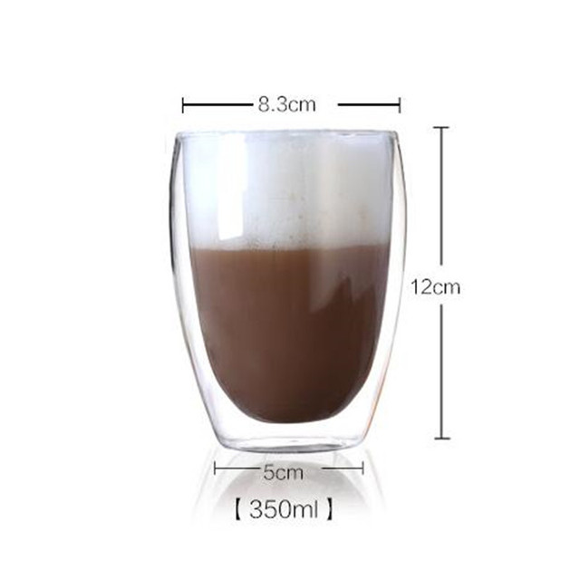 Heat Resistant Double Wall Glass coffe Cup Beer Tea Coffee Espresso Cup Handmade Creative Healthy Beverage Glasses Transparent 2