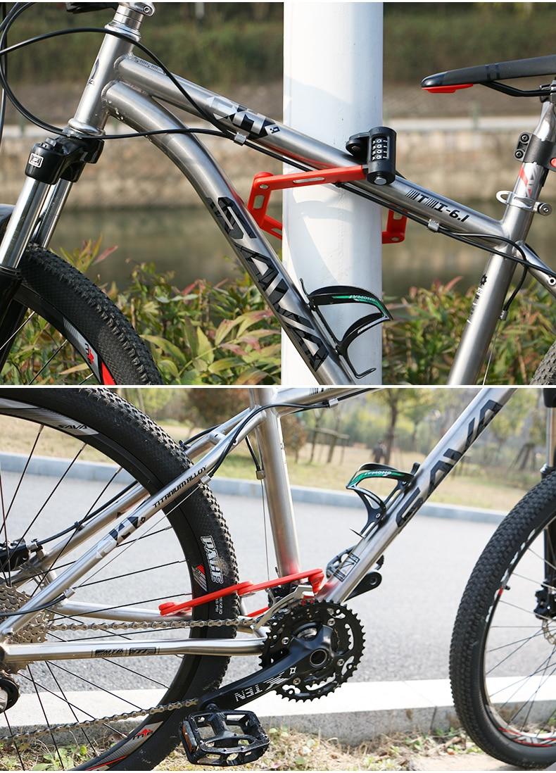 WHEELSafety Foldable Lock MTB Mountain Bike Lock Anti-cut Alloy Steel Anti-theft