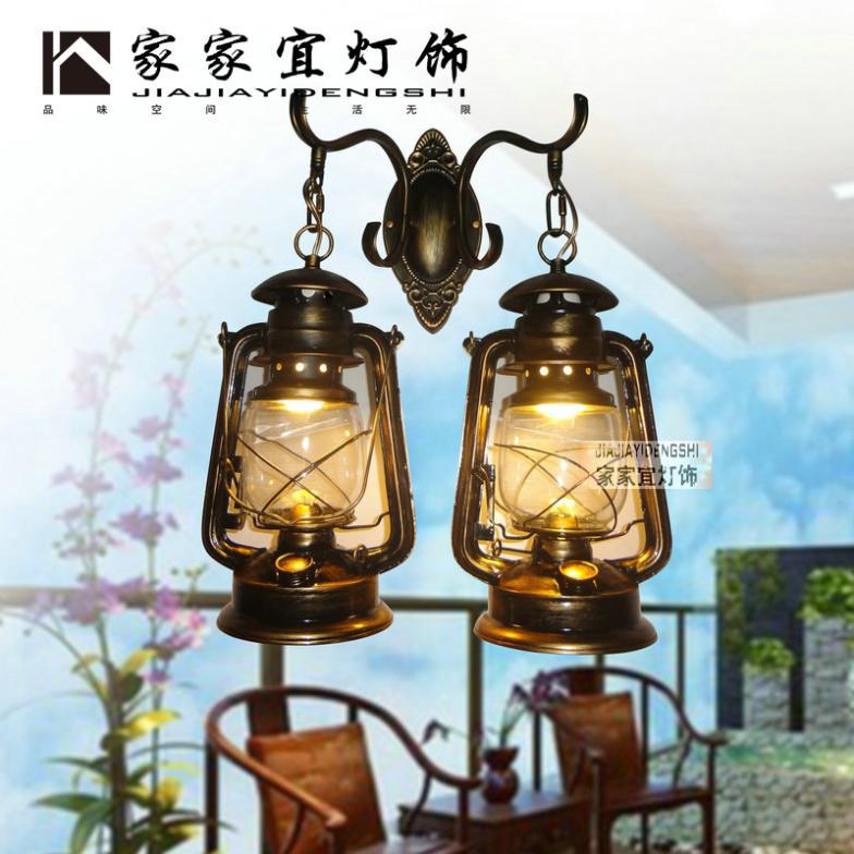 Portable Wall Lights: Nostalgic Vintage Old Fashioned Portable Lantern Balcony