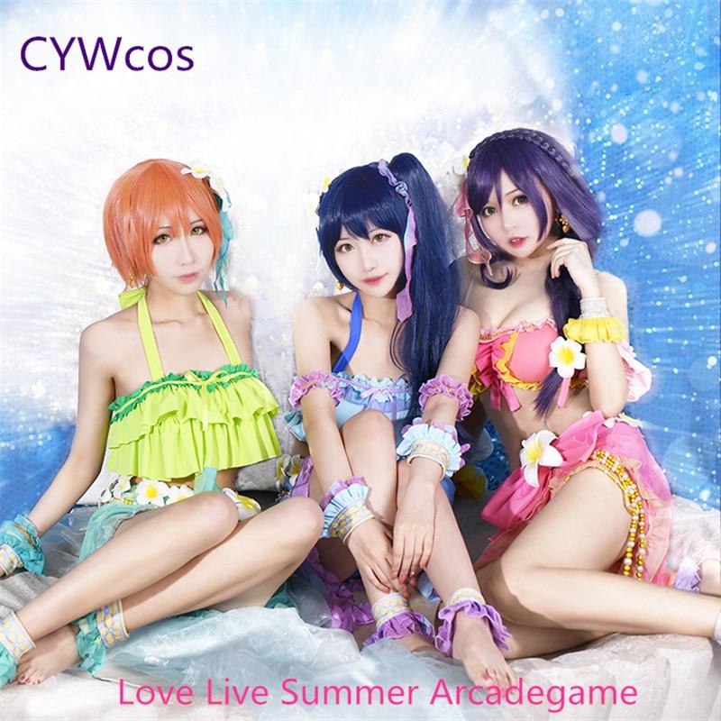 Liefde Live Zomer Arcadegame Nozomi Tojo Rin Umi Cosplay Kostuum - Carnavalskostuums
