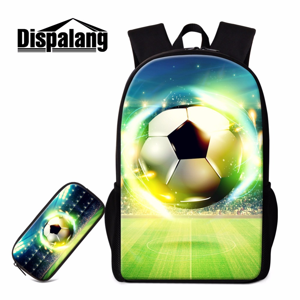 цена Dispalang Soccerly School Backpack for Teenager boys Basketbally bookbag for primary student Lightweight Back Pack Pencil Bags