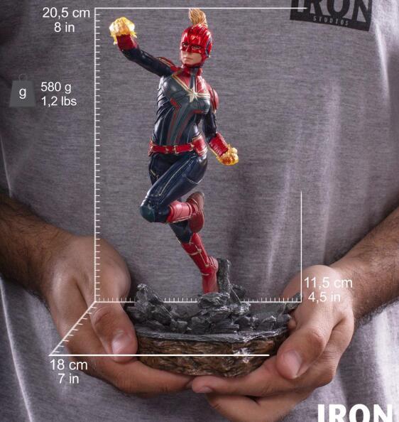 Marvel Avengers Captain Marvel PVC Statue Figure Model Toys