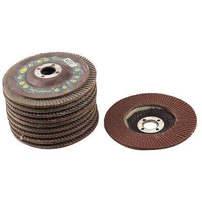 16mmx100mm 180# Grit Fan Type Abrasive Flap Sanding Discs Polishing Wheels 10Pcs