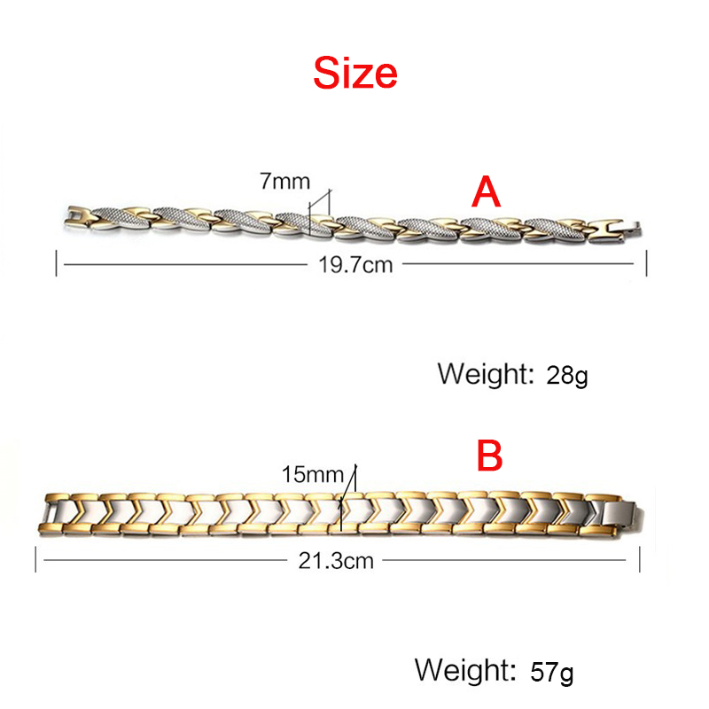 Popular Magnetic Slimming Bracelet Fashionable Jewelry For Man Woman Link Chain Weight Loss Bracelet Health Slimming Products 4