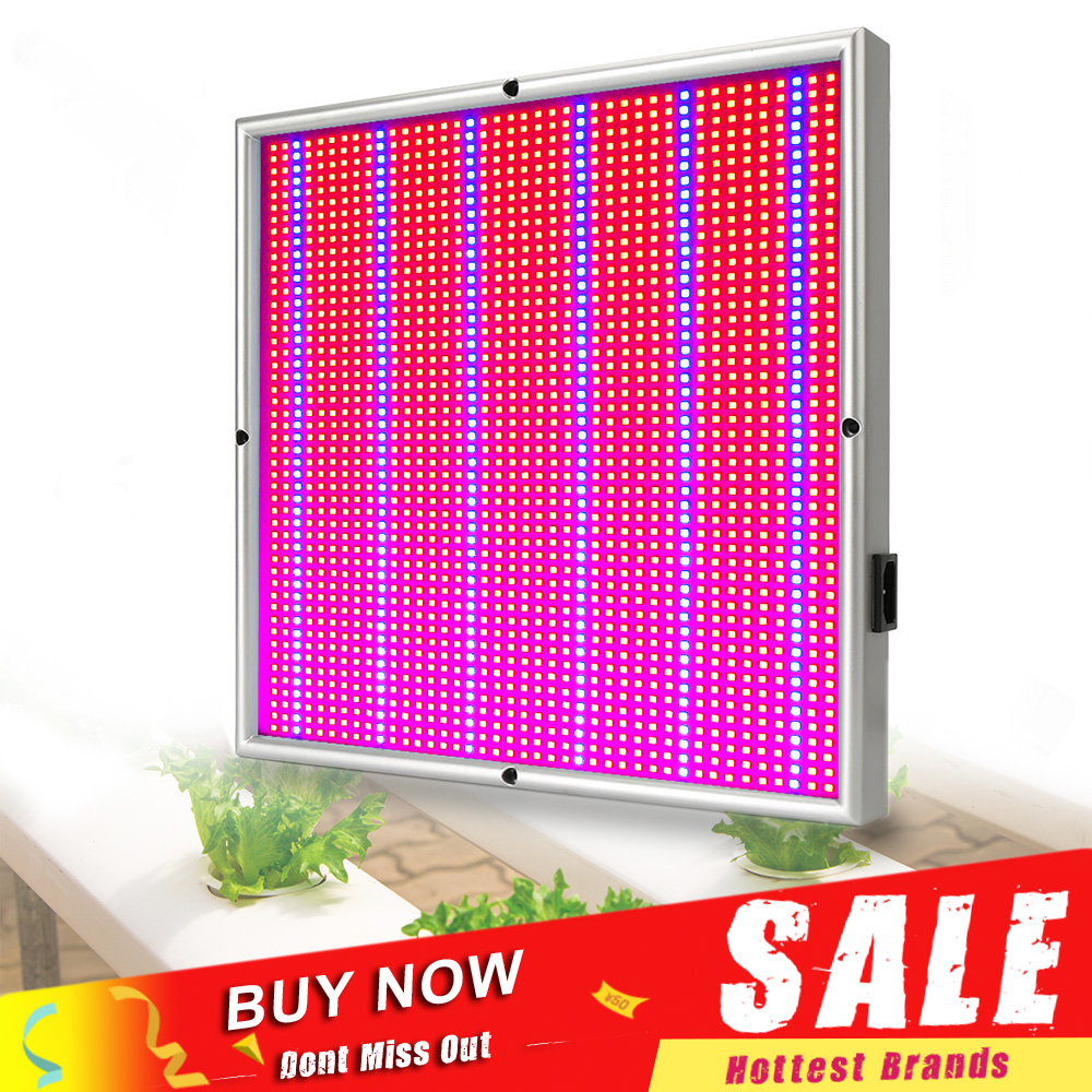200W LED Grow Light Fitolamp 1715Red: 294 Blåvoksende panel LED-lampe for innendørs planter Blomsterhydroponikk Grow Telt Greenhouse