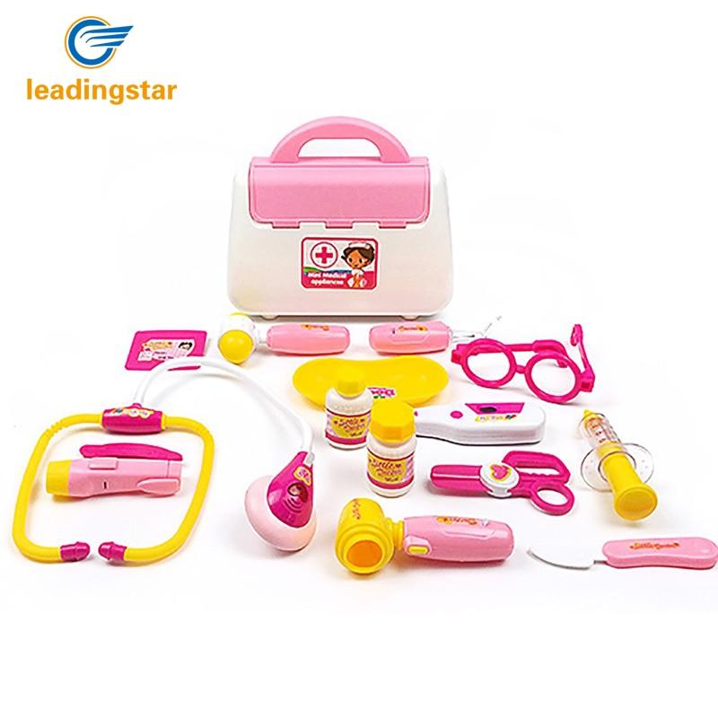LeadingStar 15pcs Set child medical kit doctor font b toys b font for girls kids role