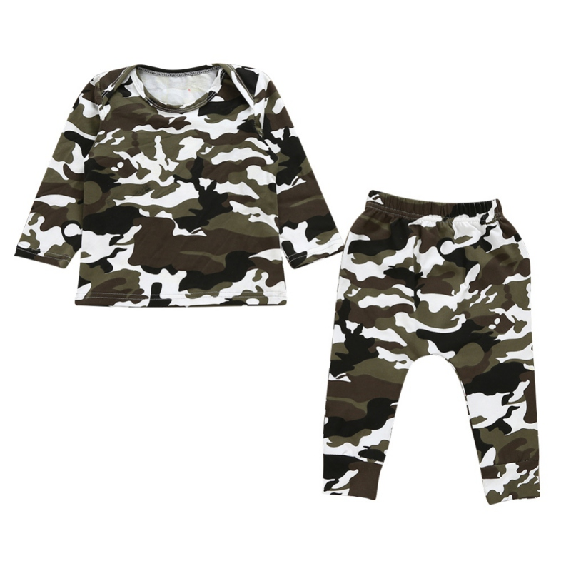 Autumn Baby Boy Clothes Outfits Clothes Set Camouflage Tops Long Sleeve T-shirt + Pants Infant Clothes Baby Boys Clothing Sets newborn infant kids baby boy clothes set t shirt tops pants camouflage pants baby boys clothing outfits set