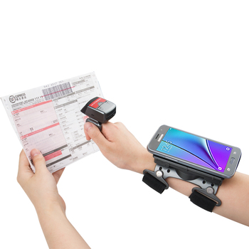Generalscan R1000BT-HP 1D Laser Mini Bluetooth Ring Barcode Scanner with Wearable Armband AB1000 for Data Collection