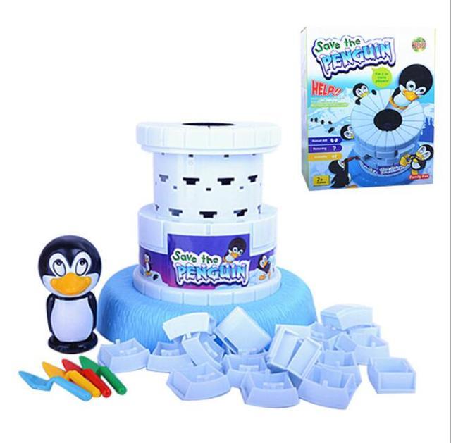 Новые сохранить Пингвин Семья Игры развивающие Игрушечные лошадки отлично Семья забавная игра-тот, кто делает Пингвин сохранить, будет Win