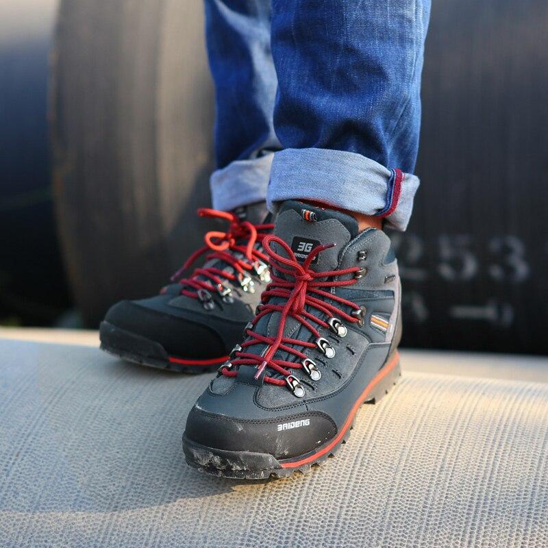 Hommes Chaussures en cuir Imperméable Chaussures de Randonnée Escalade et Chaussures De Pêche Nouveau populaire En Plein Air chaussures - 6