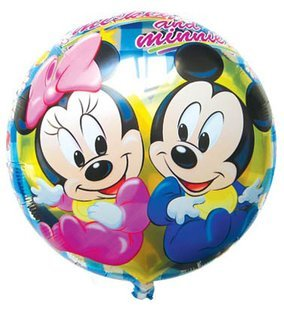 """50 PCS 18"""" inch Round shape Micky Minnie Helium balloons kids birthday party supplies Inflatable toys gifts for children"""